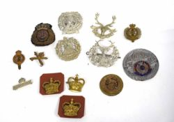 Qty of British military cap badges to include 14th County of London Battalion (London Scottish),
