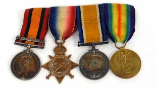 Boer World War and First World War medal group of four comprising Queen's South African General
