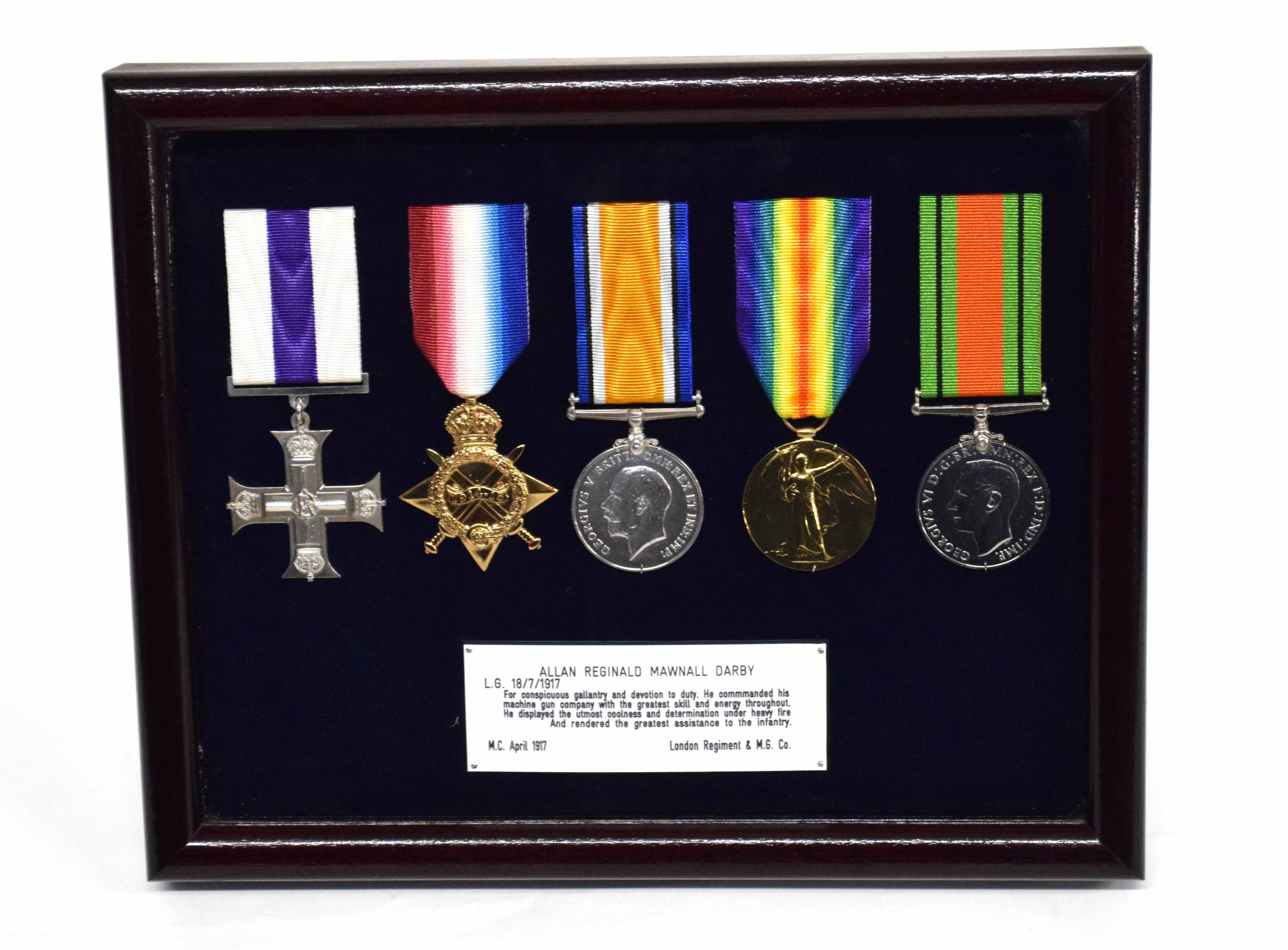 First and Second World War Gallantry Military Cross medal group of five awarded to Capt Alan