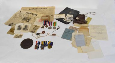 Great War/WWII family group of medals comprising WWK casualty trio to 451232 Rifleman Frederick,