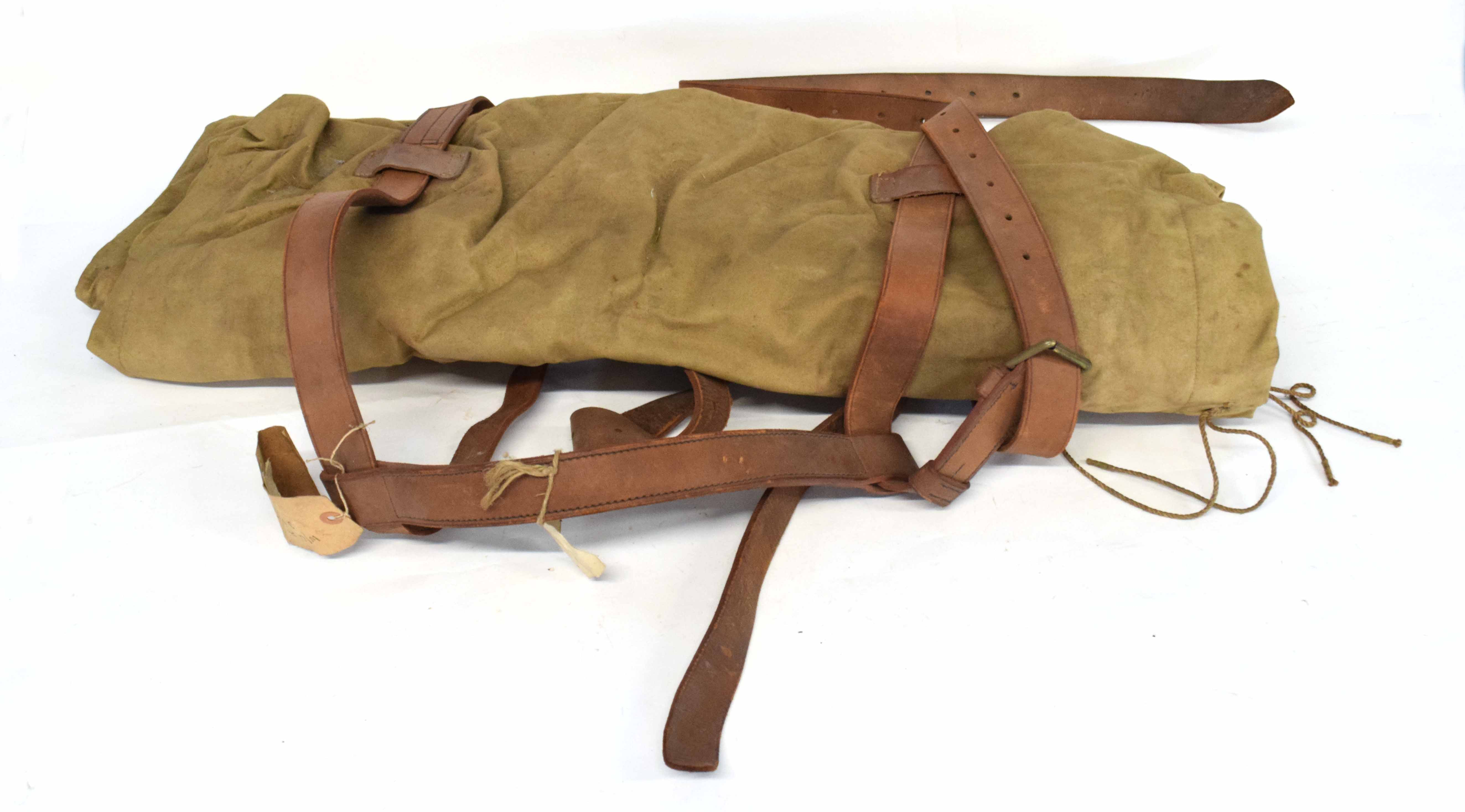 20th century British Military campaign Wellesley valise (lacking content)