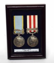 Pair of Victorian medals to casualty of the Indian Mutiny war to include Queen Victoria Crimea medal