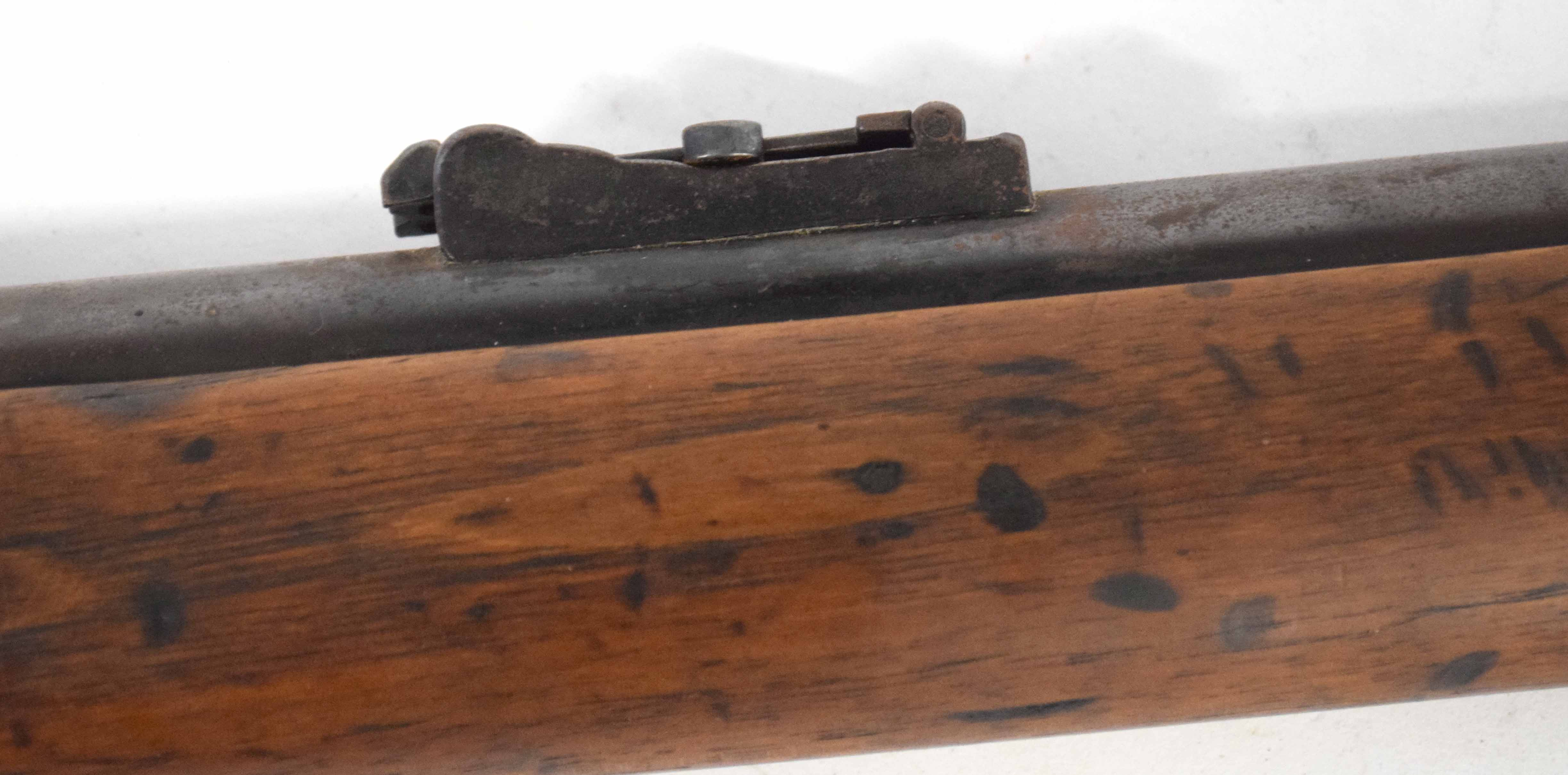 19th century two-band percussion cap rifle with ladder sight, made by James Bryce, Edinburgh, with - Image 3 of 3