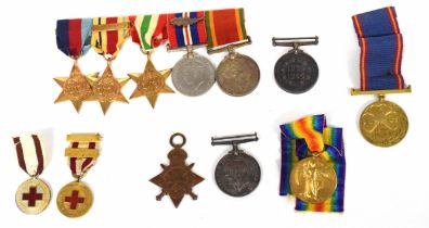 Great War/WWII family group of medals comprising trio to Cpl G F Huskisson, South African Service