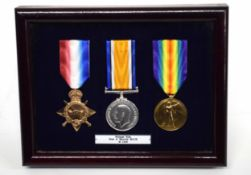 WWI casualty trio impressed to Rifleman A/394 Pte Michael Henry Ride of 7th Battalion Kings Royal