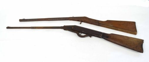 20th century break-barrel/pop gun together with a further early 20th century break barrel air