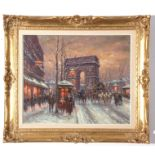 "Victor Boyer (b Prague, 1910), Oil on canvas, ""Arc de Triomphe"" (titled verso), 36 x 44cm"