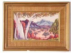 Australian aboriginal painting – Alice Springs (see label verso) and Karen Mason (xx-xxi,