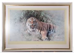 """Large framed ltd edition Print, """"Tiger fire"""", after David Shepherd."""