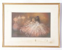 """Marlie Dry (xx), inscribed verso – pair of pastels """"Just a little more lipstick"""" and """"Waiting in the"""
