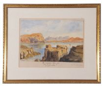 Isle of Skye, near MacLeod Maidens, inscribed Mrs Stackhouse, Acton, 23 x 28cm