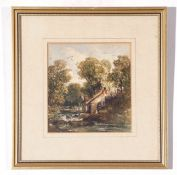 C19th British School, three small framed unsigned Watercolours, various sizes