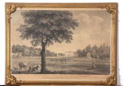 """Engraving """"A view of Coombank near Sevenoaks in Kent"""", c. early 19th century, 37 x 52cm"""