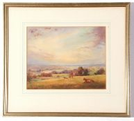 Henry J Lyon, signed pastel, Landscape, 19 x 24cm