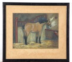 Two Horse Studies, mm, signedf Lionel Renwick, large 66 x 23cm