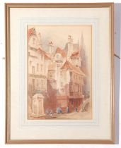 Arthur Harris (ex 1891-1897), Watercolour, continental Town Scene, sig & dated 1894, 33 x 23cm