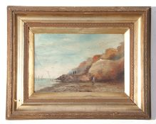 """Charles Frederick Rump (xix-xx), signed two oils on artist's board – """"West Runton with Cromer forest"""