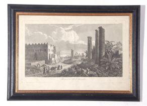 """C19th French Engraving, L F Cassas, """"Ruines de la Ville d'Alexandrie"""",30 x 45cm"""