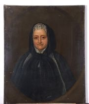 C18th East Anglian School, pair of Oils on canvas, Portraits of a Lady and Gentleman (stated to be