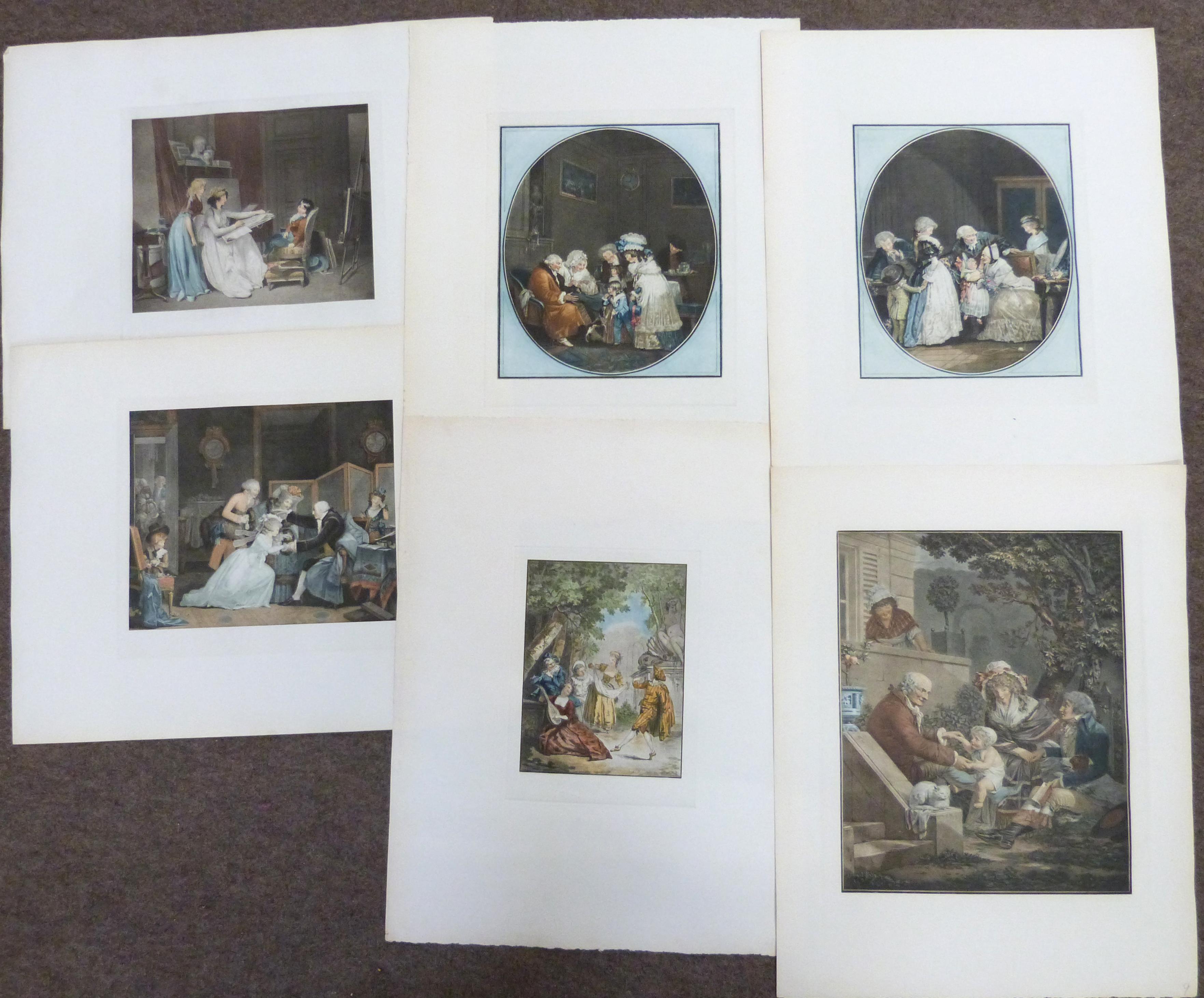 Elegant French engravings, unframed (12)