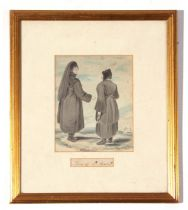 """19th century English School, unsigned, two watercolours, inscribed """"Nuns of Basil"""" and """"A Russian"""