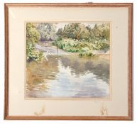Henley Graham Curl (1910-1989), signed and dated '82, watercolour, A Norfolk stream, 37 x 40cm