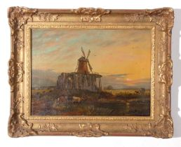 """Henry Loopey Bright (xix), signed oil on canvas – """"St Benet's Abbey"""", 39 x 55cm"""