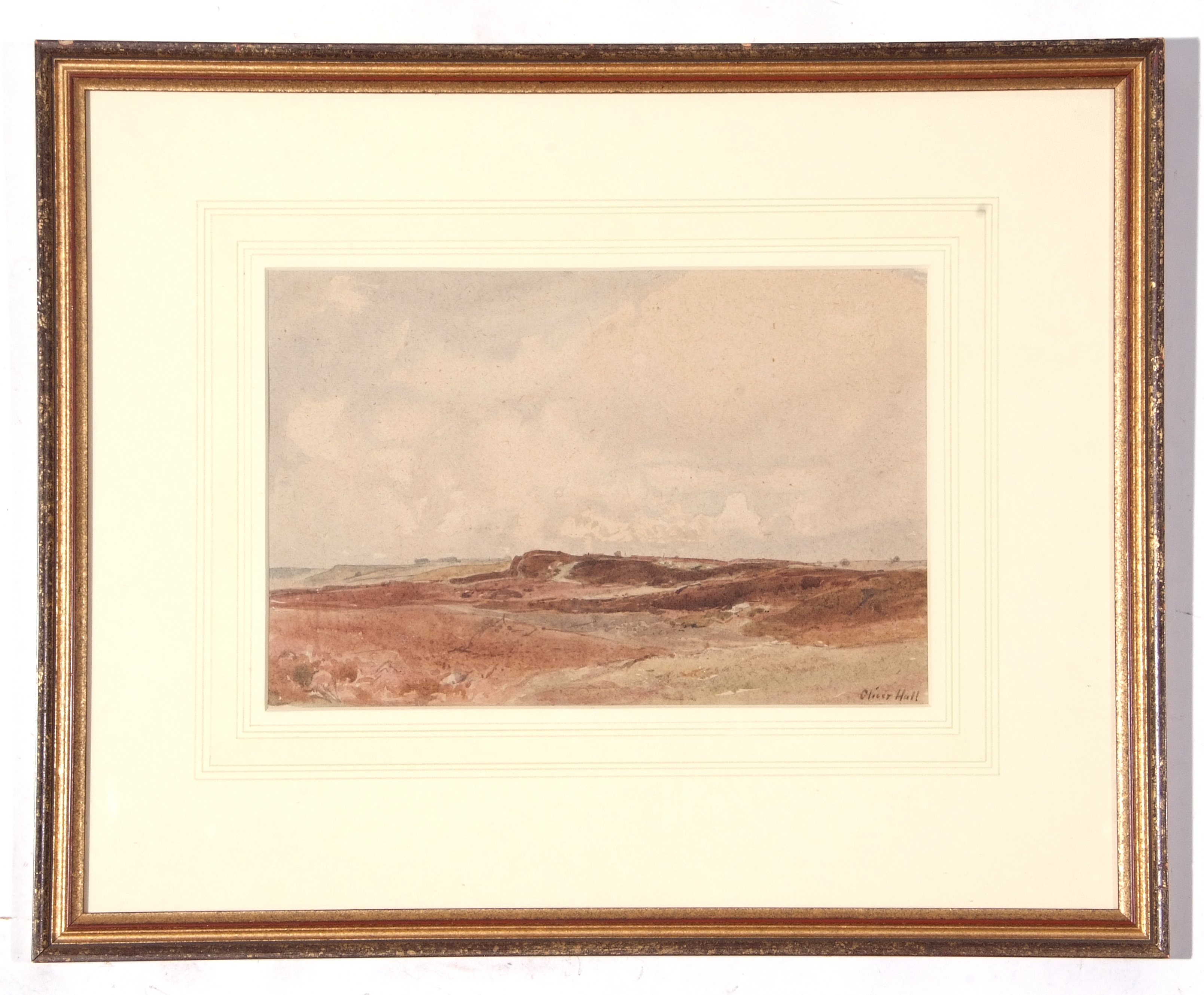 Oliver Hall, Moorland near Shap, watercolour, 23 x 35cm