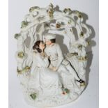 Staffordshire arbour type group of lovers