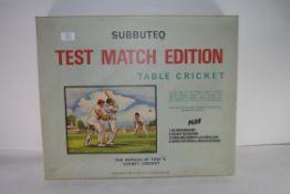 Subbuteo Test Match Edition table cricket circa 1960s in original box with contents