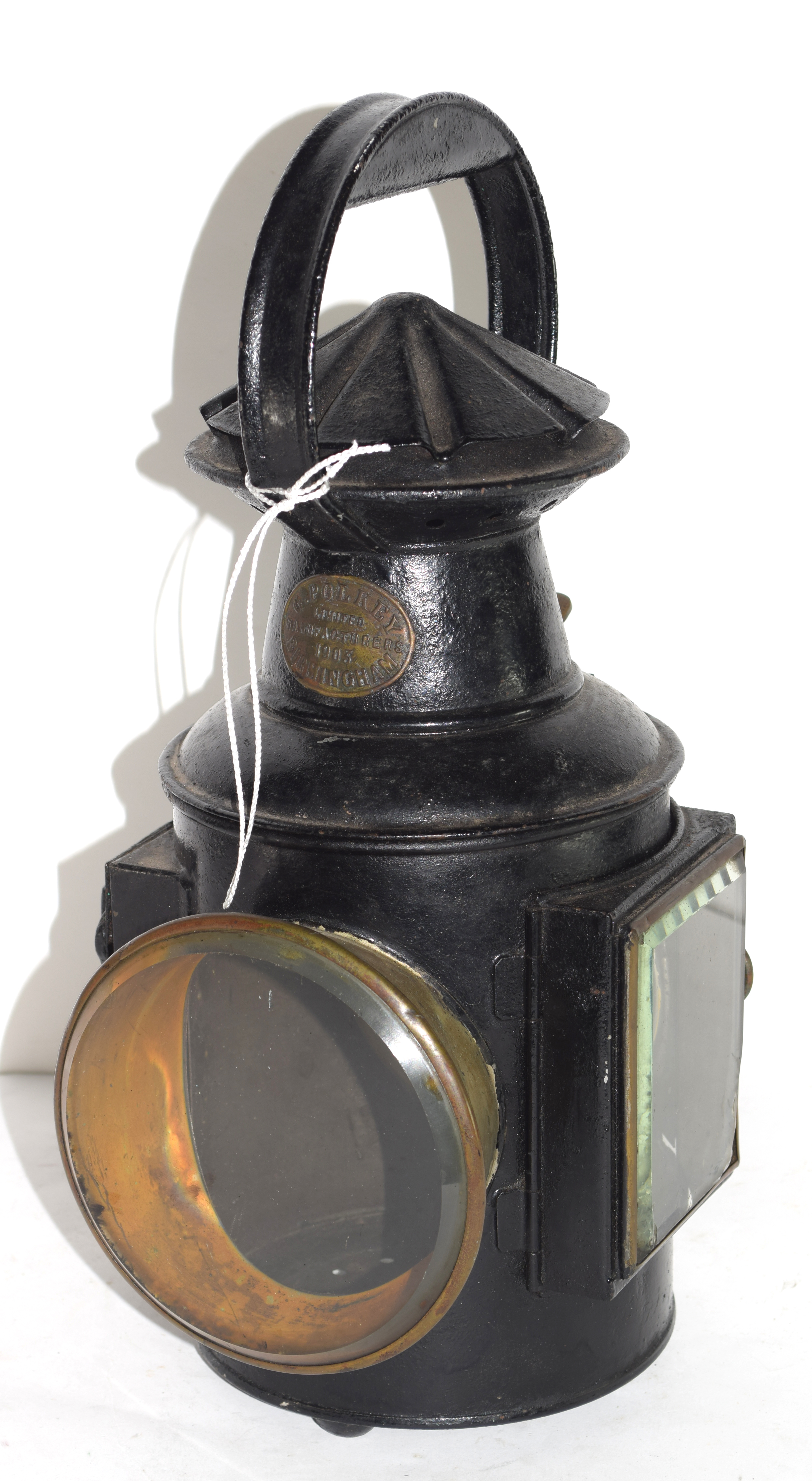 Railway light with stamp for G Polkey, 1903, Birmingham - Image 2 of 6