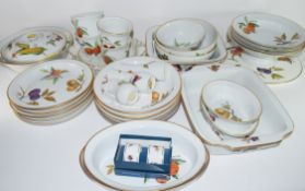Extensive quantity of Royal Worcester dinner wares in the Evesham pattern comprising dinner