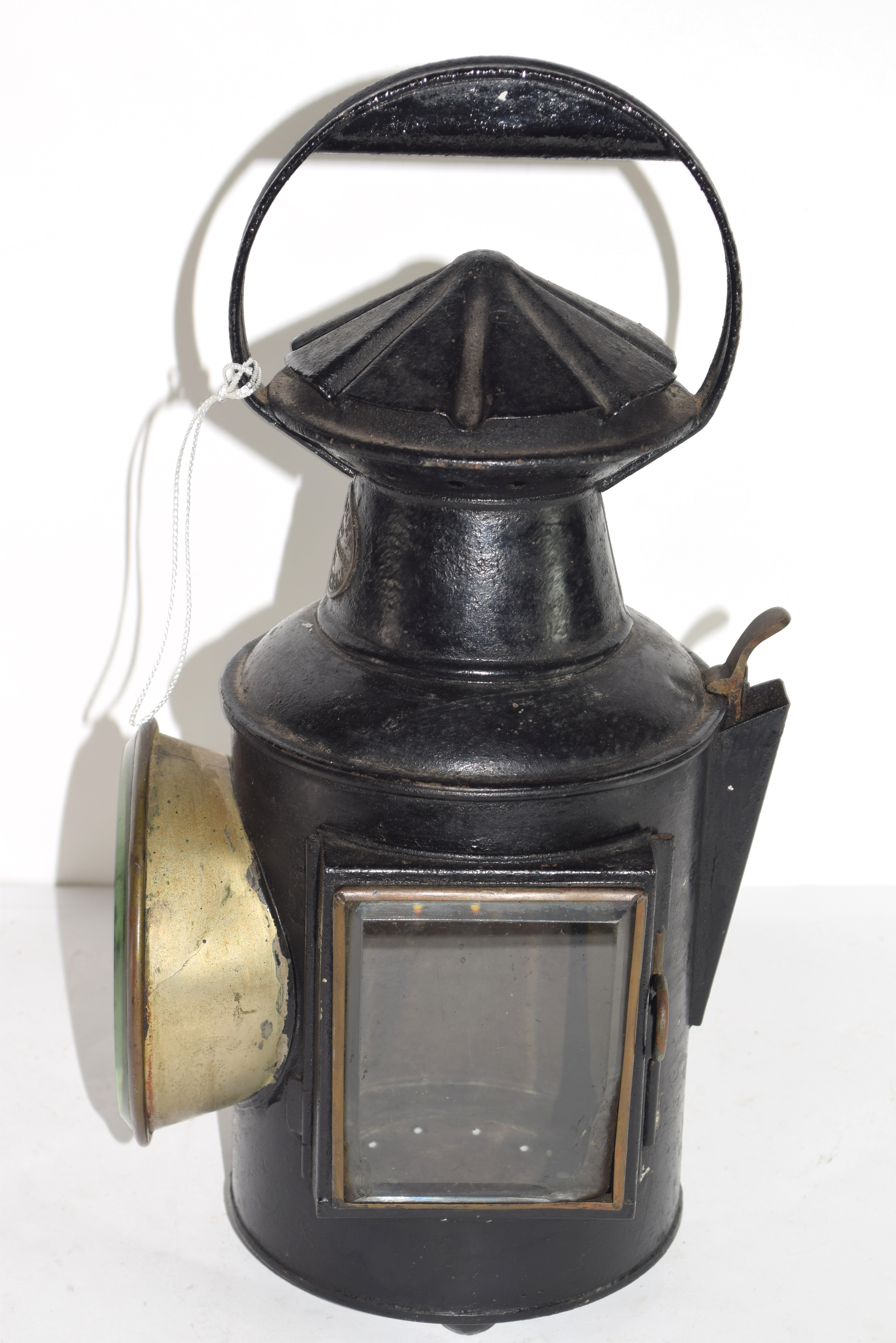 Railway light with stamp for G Polkey, 1903, Birmingham - Image 6 of 6