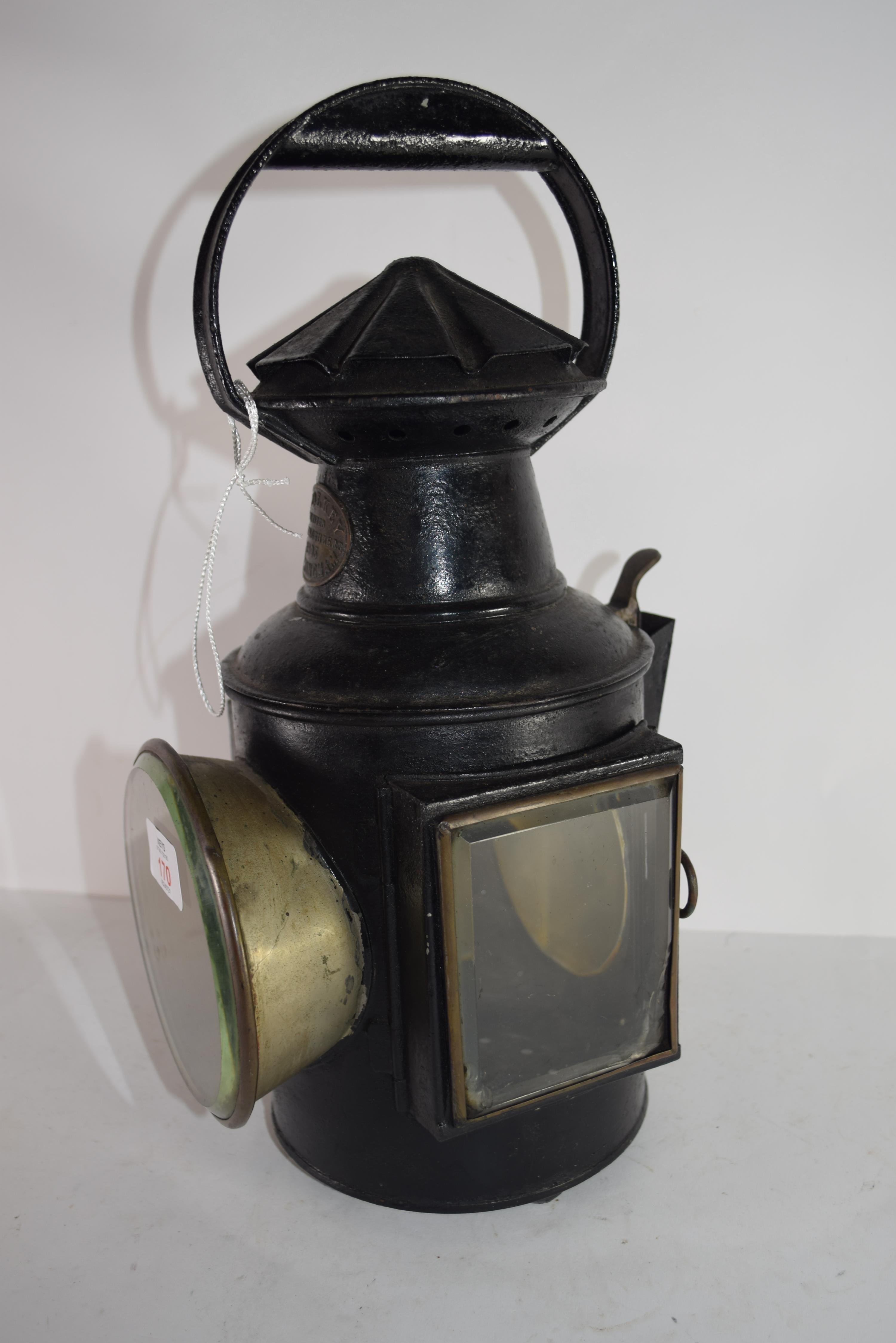 Railway light with stamp for G Polkey, 1903, Birmingham - Image 5 of 6