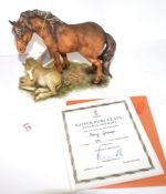 Kaiser limited edition porcelain figure of a horse and foal with original certificate, this