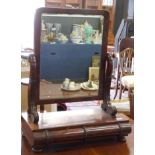 19th century mahogany swing mirror with drawers beneath, width approx 57cm