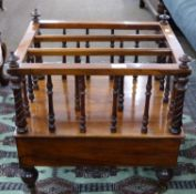 19th century Canterbury with turned supports, length approx 49cm