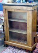 Inlaid glazed cabinet, width approx 75cm