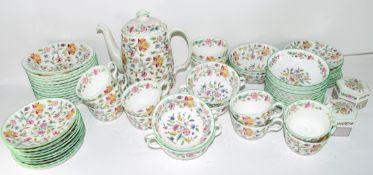 An extensive quantity of dinner and tea wares by Minton in the Haddon Hall pattern comprising 10