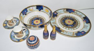 Group of Royal Worcester and some Doulton wares made to celebrate the Millennium, including two