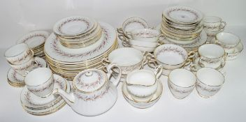 Group of dinner wares made by Paragon in Harmony pattern comprising 12 dinner plates, side plates,