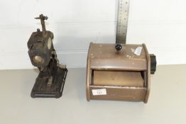 CORBY TIEMASTER TIE PRESS AND A PATHESCOPE KID PROJECTOR