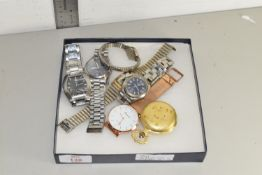 BOX CONTAINING WRIST AND POCKET WATCHES