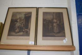 """PAIR OF 19TH CENTURY """"CRIES OF LONDON"""" PRINTS, EACH FRAME APPROX 31CM WIDTH"""