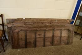 SET OF EARLY OAK CARVED DOOR PANELS, LARGEST WIDTH APPROX 74CM