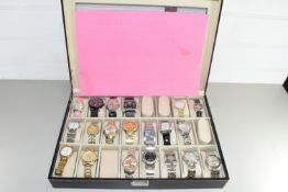 CASED COLLECTION OF WRIST WATCHES