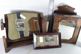 COLLECTION OF SMALL MIRRORS, WALL CUPBOARD ETC