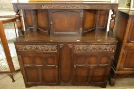 REPRODUCTION COURT CUPBOARD STYLE SIDEBOARD, LENGTH APPROX 139CM