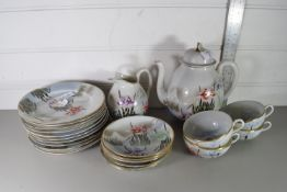 EARLY 20TH CENTURY JAPANESE EXPORT COFFEE SET (SOME PIECES A/F)