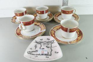 QTY OF GILT DECORATED ELIZABETHAN PART TEA SET
